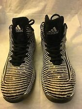 Men's Adidas Crazylight Boost Shoes Size 12 S85472-White/Black/Silver