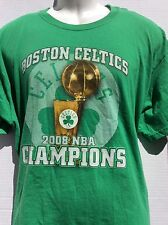 Boston Celtics 2008 NBA champions green T-shirt XL Pierce Garnett Allen Rondo