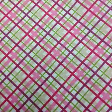 Cotton Curtain Fabric Material Bed Cushion sheet Multicolour Check