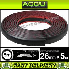 26mm 5M Black Car Body Bumper Trim Rubber Moulding Styling Detailing Strip DT001