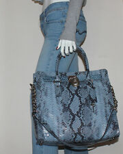 NWT MICHAEL Michael Kors Hamilton Large North South Tote Bag *Denim*
