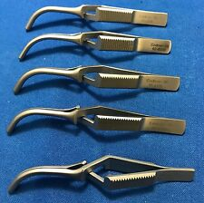 Codman Debakey Curved Bulldog Clamps 8.5cm - Ref: 92-6308 - LOT of 5 - New
