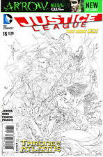 JUSTICE LEAGUE 16...NM-..1:100 Sketch Variant...2013...Geoff Johns..HTF Bargain!