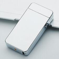 Rechargeable Cigarette Lighter Dual Arc Electric Plain Plasma USB Windproof