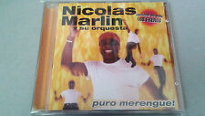 "NICOLAS MARLIN Y SU ORQUESTA ""PURO MERENGUE"" CD 12 TRACKS COMO NUEVO"