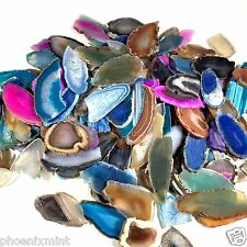 Half Pound Lot Cast Away Agate Slice Broken Geodes Polished Slab Crystal Quartz