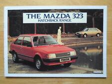 MAZDA 323 Hatchback range 1982 UK Market sales brochure