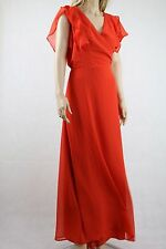 ASOS Frill Wrap Maxi Dress UK SIZE 18