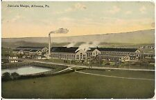 Juniata Shops in Altoona PA Postcard 1912