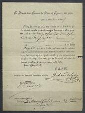 B46-DOCUMENTO ANTIGUO BANCO ESPAÑA MURCIA 1897