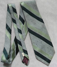 BURTON VINTAGE WIDE TIE RETRO 1970s MOD DANDY SHIMMERY GREEN STRIPED STRIPES