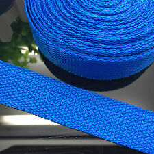 New 5 Yards Length 1 Inch (25mm) Width Blue Nylon Webbing Strapping P02