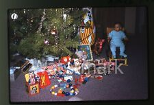 1960 photo slide Boy Christmas Toys Bonanza Donald Duck Ice Cream Wagon Clown