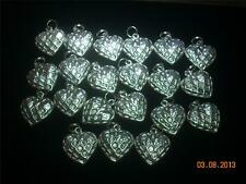 Wholesale Lot #250 Heart Shape Pewter Charm As Pendant Earring Keychain Bracelet