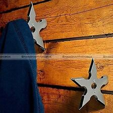 1Piece Ninja Throwing Star Metal Coat Hook Gift Executive Office Home Hanger