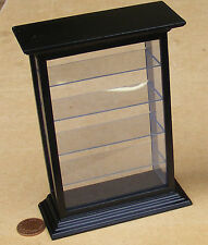 1:12 Large Black Finish Shop Counter Display Cabinet Dolls House Miniature 1557
