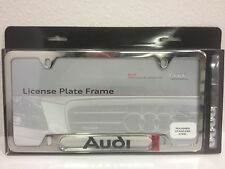 Audi License Plate Frame with Audi Logo - Polished A3 A4 A5 A6 A7 A8 R8 Q7 Q5
