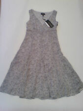 BNWT Episode Grey Silk Lined Dress with Ribbon Trim Size 6/Small