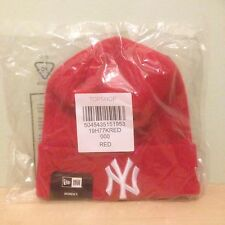 "BNWT & Sealed New Era Official New York ""NY"" Yankees Red Beanie Hat"