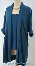 Chicos long shrug sweater fly away duster cardigan 2pc set twinset top SZ 2 M L