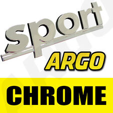 CHROME SPORT BADGE SILVER 3D EMBLEM DECAL STICKER FIAT GRANDE PUNTO