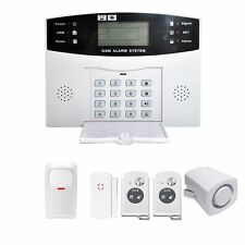 Wireless LCD GSM SMS Home Security Burglar House Fire Alarm System Auto US WP