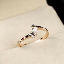 Elegant women Jewelry 18K Rose Gold Plated Crystal Engagement Wedding Party Ring