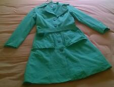 green trench coat sz S