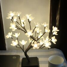 Mini Plum Blossom LED Flower Tree Night Light Christmas Home Desk Festival Dec