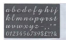Acero Inoxidable// plantilla/Oblongo/Minúsculas Alfabeto// relieve/Pequeño