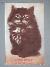 R&L Postcard: Naughty Kitten Cat Poem, Cynicus Publisher