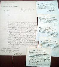 1827 LETTERA E DOCUMENTI DA MASSALOMBARDA E LUGO SU STRADE E CANALI