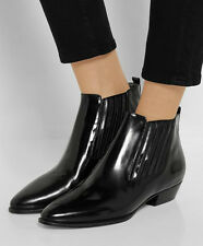 ISABEL MARANT Leather Chelsea Ankle Boots in Black Size 38 - $1,060
