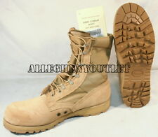US Military McRae HOT WEATHER COMBAT BOOTS Vibram Desert Tan USA Made NIB 5.5N