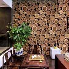 3D Home Retro Short Stake Wood Timber Pattern Vinyl Wallpaper Roll Mural Decor