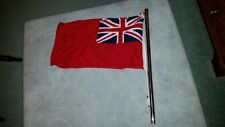 red ensign for boat or yacht with stainless steel flag pole
