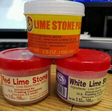 Lime Stone Paste (White-Red-Regular /Chaux Blang)-3.5oz (3 Choices U pick only 1