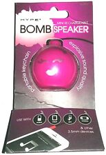 Hype Mini Rechargeable Bomb Speaker with Included Micro USB Cable New Pink