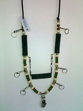 N.W. Outdoors Fly Fishing Lanyard 6 Hooks & Tippet Holder! (Earth Tones)
