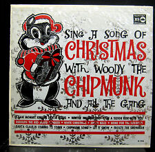Woody The Chipmunk - Sing A Song Of Christmas With LP Mint- Mono USA