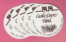 5 Same Vintage Paper Coasters Castle Court Hotel Cahir County Tipperary Ireland