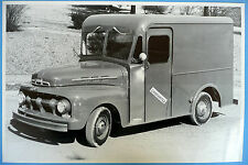 """12 By 18"""" Black & White Picture 1951 1952 Ford Milk Delivery Truck"""
