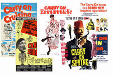 CARRY ON  FILMS - SET OF 5 - A4 POSTER PRINTS # 3
