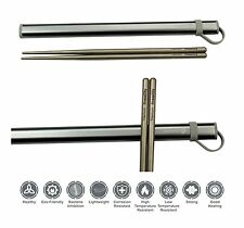Titanium Chopsticks Extra Strong Ultra Lightweight Professional (Ti), BRAND NEW