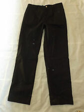 NEW LOCKHART CATERING EXECUTIVE CHEFS GOOD QUALITY BLACK TROUSERS Q1026 W36 L32