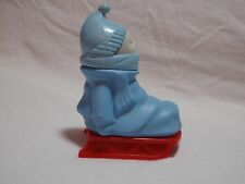 Avon Sled Baby Figurine Bundle of Fun Glass Perfume Bottle Blue 1970s Empty