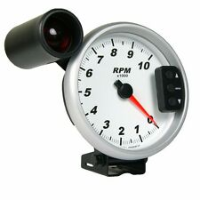"5"" Pedestal Tachometer with Peak Recall, Shift Light, White Dial - Refurbished"
