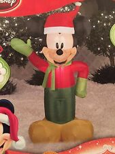 New Disney Christmas Gemmy 3.5' Mickey Mouse LED Airblown/Inflatable Yard Decor