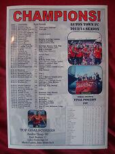 Luton Town 2014 Skrill Premier Conference champions - souvenir print
