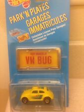Hot Wheels Park N Plates Garages Immatricules VW Bug Yellow Volkswagen Beetle